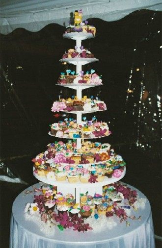 pictures of wedding cakes made out cupcakes new york caterer tiered cake 18466