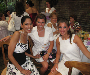 bridal shower party guests having fun long island wedding catering